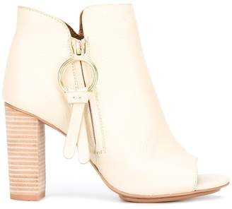 See by Chloe peep toe ankle boots