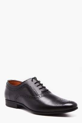 boohoo Real Leather Derby Brogue