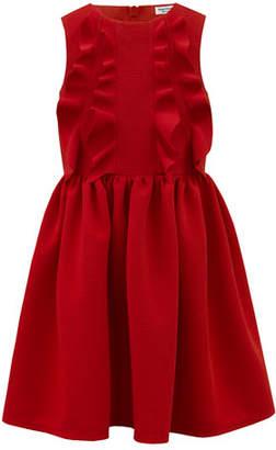 David Charles Rib Knit Ruffle-Trim Sleeveless Dress, Size 4-8