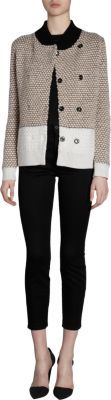Proenza Schouler Mock Neck Double Breasted Cardigan