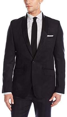 Calvin Klein Men's Slim Fit Single Button Faux Suede Shawl Collar Sportcoat