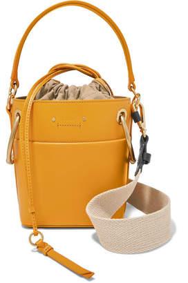 Chloé Roy Mini Leather Bucket Bag - Mustard