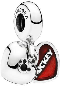 Pandora Disney Jewelry Collection Silver Crystal Mickey & Minnie Dangle Charm