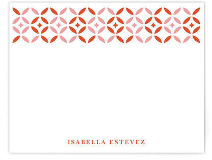 Geometric Floral Personalized Stationery