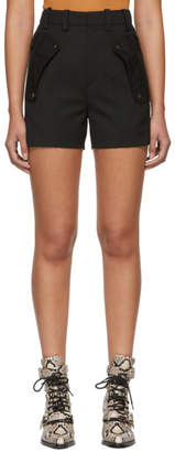 Chloé Black Wool Pocket Shorts