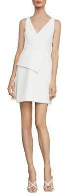 BCBGMAXAZRIA Asymmetric-Panel Crepe Cocktail Dress