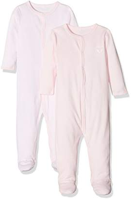 Name It Baby Girls' Nbfnightsuit 2p W/f Ballerina 1 Noos Sleepsuit,Pack of 2