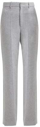 Joseph Jess High Rise Herringbone Trousers - Womens - Grey