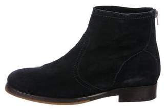 Jimmy Choo Suede Zip Ankle Boots