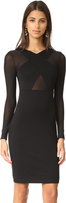 KENDALL + KYLIE Cross Over Long Sleeve Dress $195 thestylecure.com