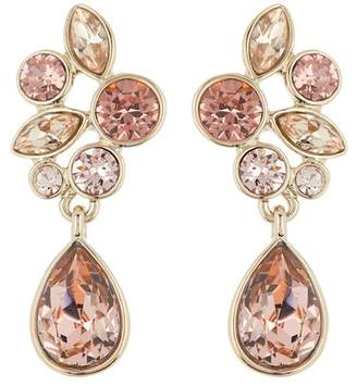 Givenchy Multi-Colored Crystal Cluster Drop Earrings