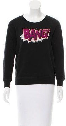 Sandro Embroidered Crew Neck Sweatshirt $80 thestylecure.com