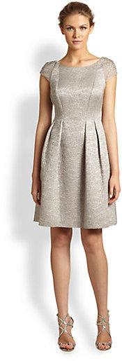 Kay Unger Embellished Cap-Sleeve Dress