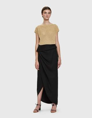 Awake Draped Wrap Skirt