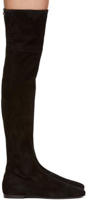 Giuseppe Zanotti Black Suede Cika Over-the-Knee Boots