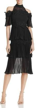 Keepsake Horizons Cold-Shoulder Dress