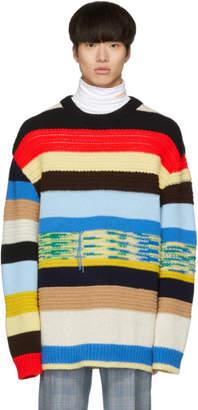 Multicolor Irregular Striped Sweater