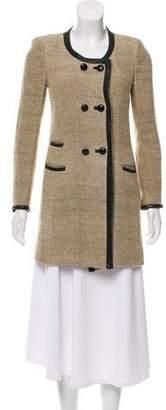 Etoile Isabel Marant Silk-Blend Herringbone Coat