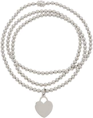 Italian Silver Beaded Wrap Bracelet Sterling, 15.4g