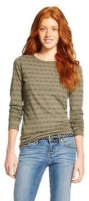 Women's Long Sleeve Crew Neck T-Shirt - Mossimo Supply Co. (Juniors') $12 thestylecure.com