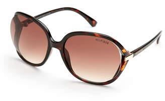 d1701b6d77 ... Tommy Hilfiger Tortoiseshell-Look Molly XL Round Wrap Sunglasses