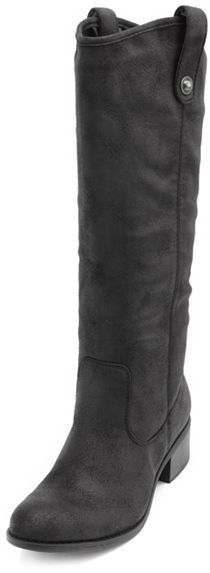 Charlotte Russe Distressed Mid-Calf Riding Boot