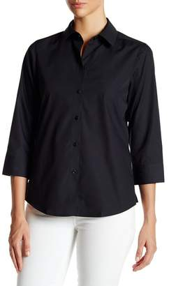 Foxcroft 3\u002F4 Length Sleeve Shaped Fit Shirt