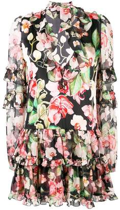 Philipp Plein floral print ruffle dress