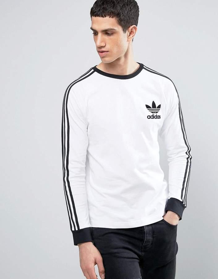 adidas Originals Longsleeved California T-Shirt In White BK5863