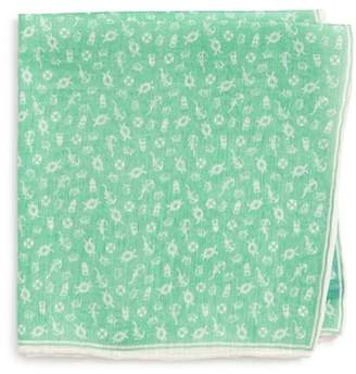 Southern Tide Maritime Skipjack Cotton & Silk Pocket Square