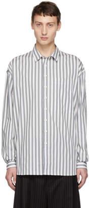 Sunnei Grey Striped Overshirt