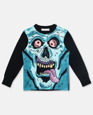 Stella McCartney inky monster print top
