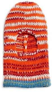 Calvin Klein Television Stripe Wool Knit Ski Mask