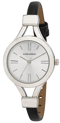 Laura Ashley Women's LA31011SS Analog Display Japanese Quartz Black Watch $122.83 thestylecure.com