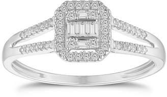 f3efcbaa3 H Samuel 9ct White Gold Split Shoulder 0.20ct Diamond Ring