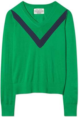 Tory Sport PERFORMANCE CASHMERE CHEVRON SWEATER