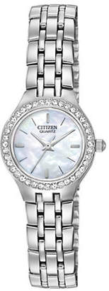 Mother of Pearl Analog Citizen Quartz Collection Mother-of-Pearl Stainless Steel Bracelet Watch