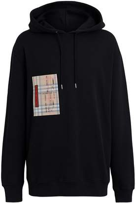 Burberry Ticket Print Pocket Cotton Jersey Hoodie