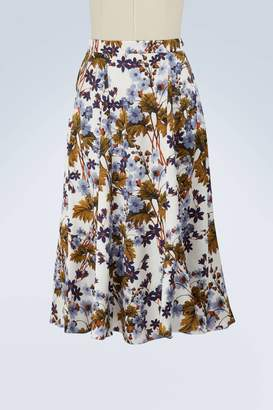 Erdem Zuri printed satin skirt