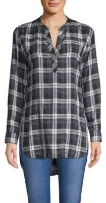 Popover Plaid Tunic