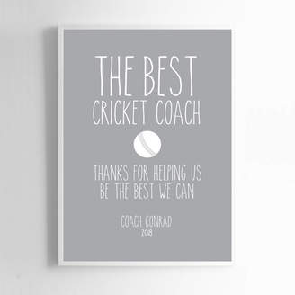 Coach Liberty Bee Personalised Print For Cricket