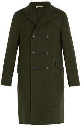 Massimo Alba Double Breasted Wool Coat - Mens - Green