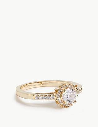 Marks and Spencer Gold Plated Pave Shoulder Ring