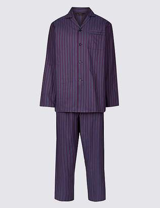 Marks and Spencer Pure Cotton Striped Pyjama Set