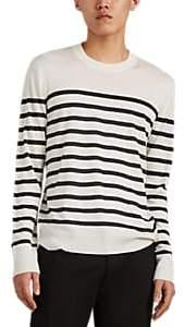 ATM Anthony Thomas Melillo Men's Striped Fine-Gauge Silk-Blend Sweater - Cream