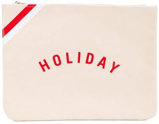 Holiday logo pouch
