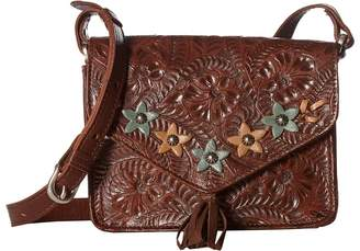 American West Flower Power Flap Crossbody Bag Cross Body Handbags