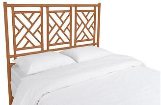 David Francis Furniture Chippendale Headboard - Caramel