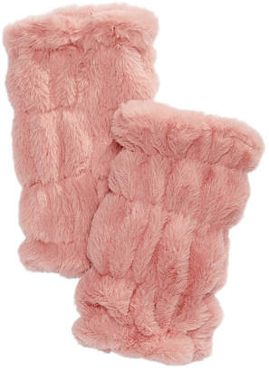 INC International Concepts I.N.C. Faux-Fur Fingerless Gloves, Created for Macy's