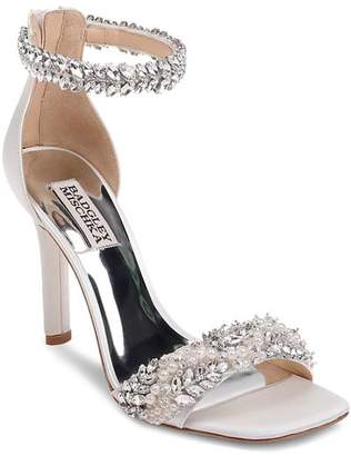 Badgley Mischka Women's Fiorenza Faux Pearl & Crystal Embellished High-Heel Sandals